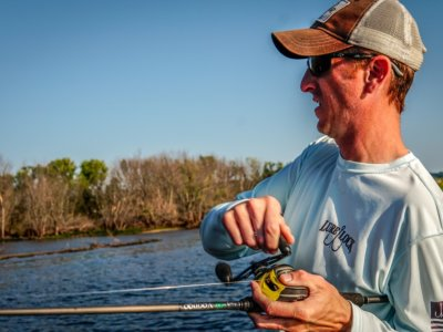 Setting the hook with a Voodoo II Rod