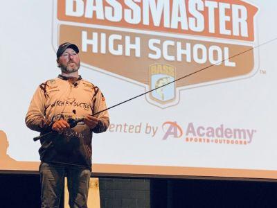 Tadd Johnson Giving a Seminar to High School Bass Angler's