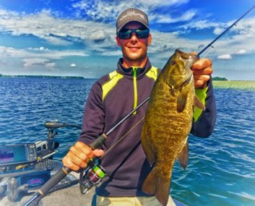 Voodoo Spinning Rod with Smallmouth