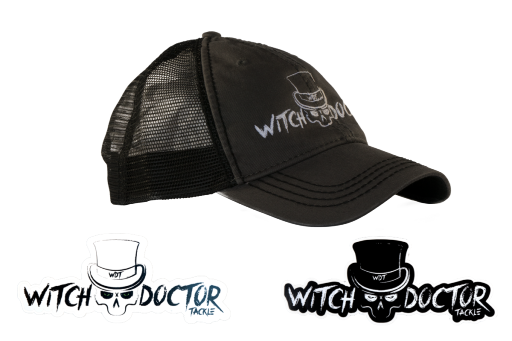 Witch Doctor Tackle Black-Grey Hat with Decal