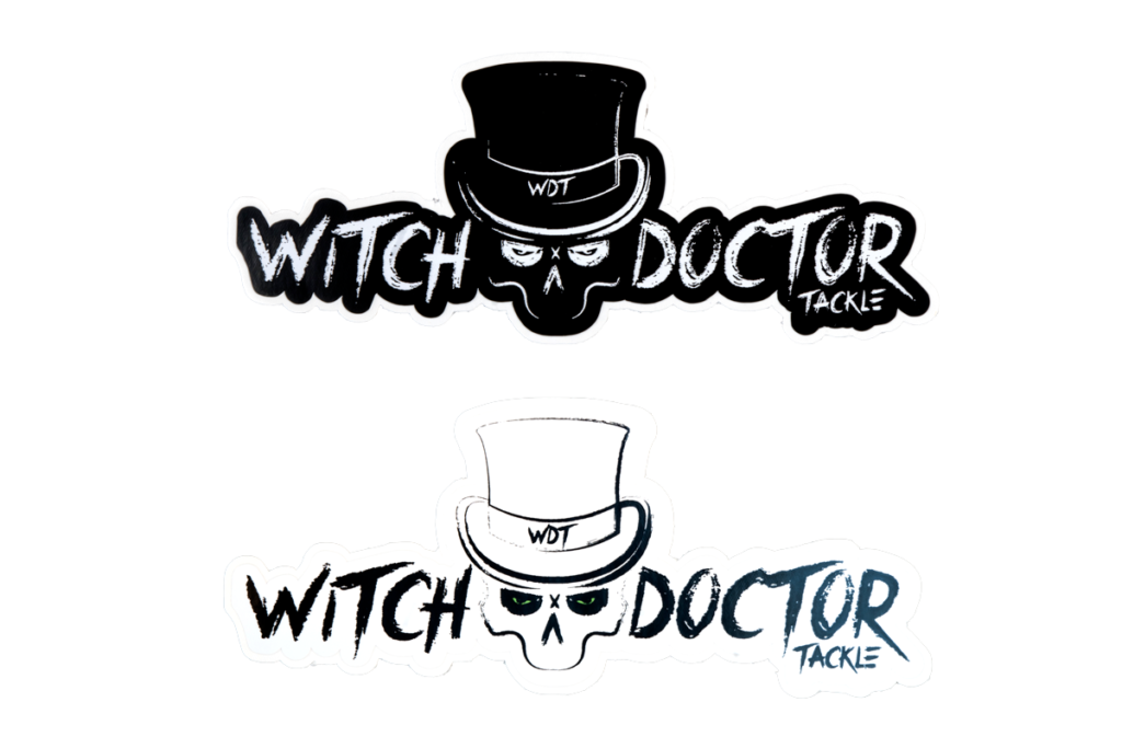 Witch Doctor Tackle Decal 2 pk