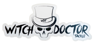 Witch Doctor Tackle Decal White