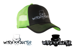Witch Doctor Tackle Grey-Green Hat with Decal