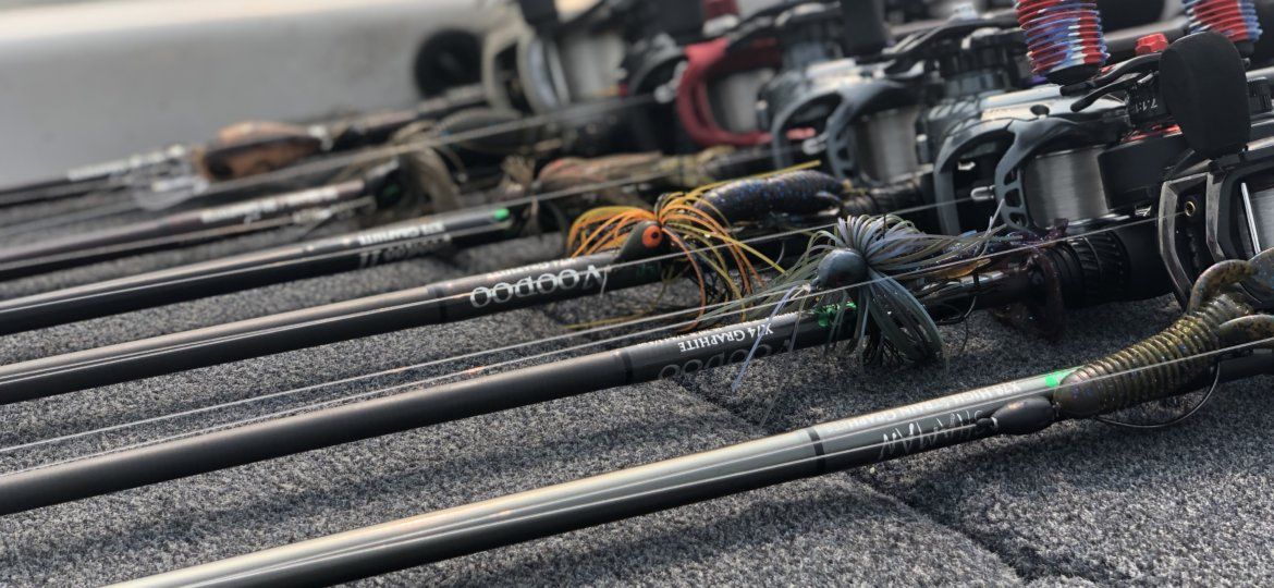 Witch Doctor Tackle rods on deck